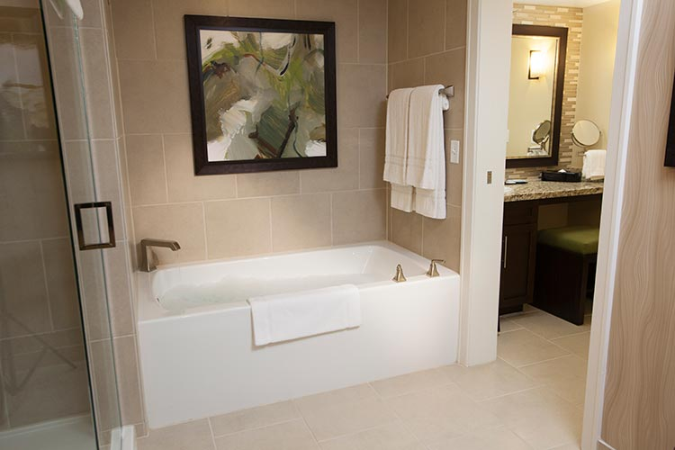 guest suite bathroom with bath tub, The Berkley, Las Vegas