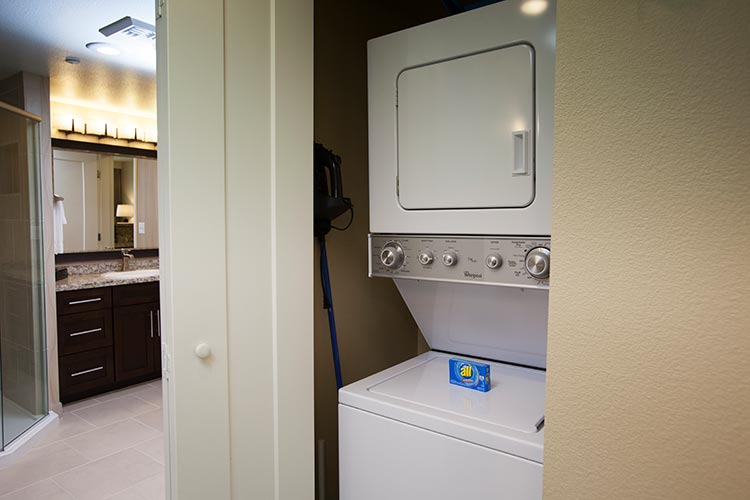 stacked washer and dryer, The Berkley, Las Vegas