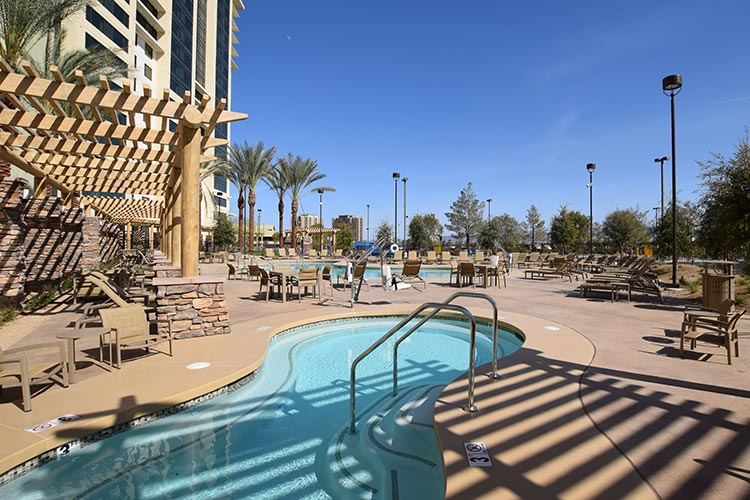 relaxing outdoor hot tub, The Berkley, Las Vegas