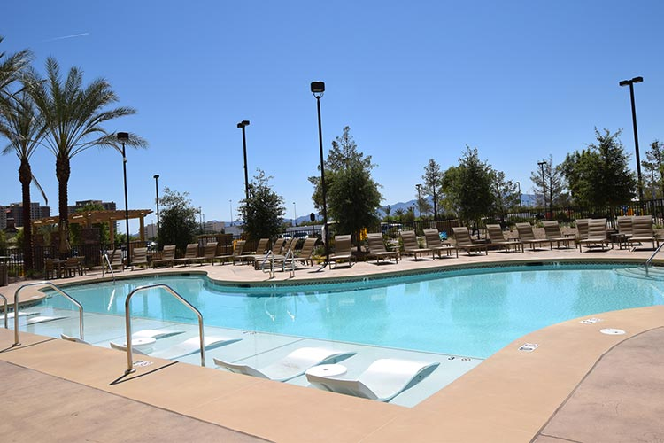 pool area, The Berkley, Las Vegas