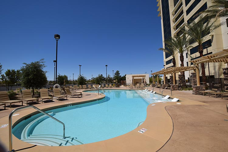 heated outdoor swimming pool, The Berkley, Las Vegas