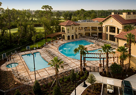 resort condo with view of swimming pool during the day, The Berkley, Orlando