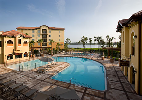 resort style, heated outdoor swimming pool, The Berkley, Orlando