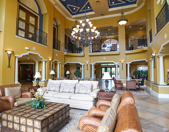 grand clubhouse for guest enjoyment and entertainment, The Berkley, Orlando