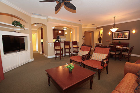guest suite living room area, The Berkley, Orlando