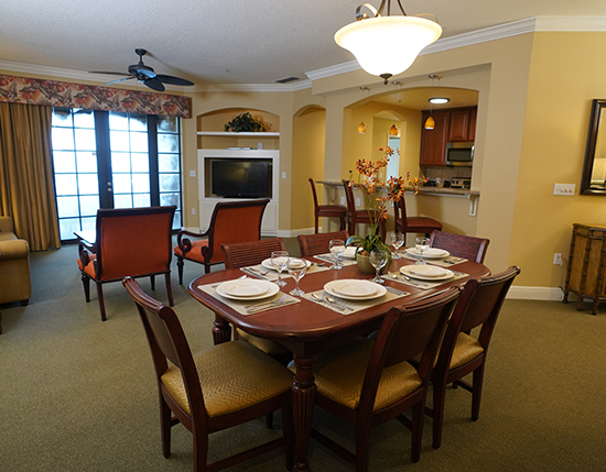 guest suite dining room area, The Berkley, Orlando