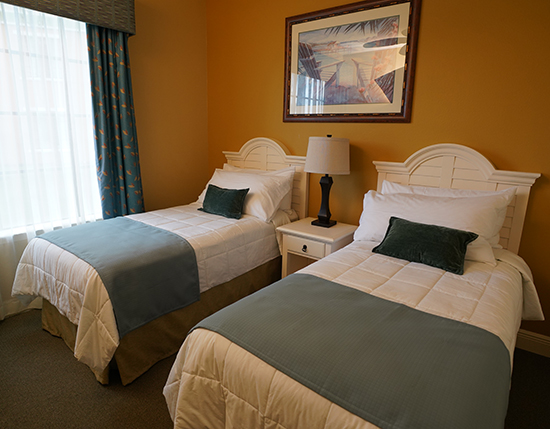 guest suite bedroom with two full size beds, The Berkley, Orlando