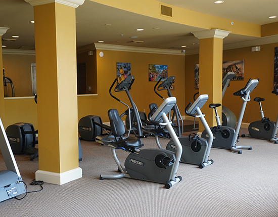 guest fitness center inside grand clubhouse, The Berkley, Orlando