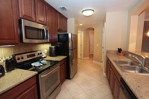 fully equipped kitchen with granite counter tops, The Berkley, Orlando
