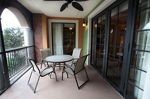 guest suite screened patio, The Berkley, Orlando