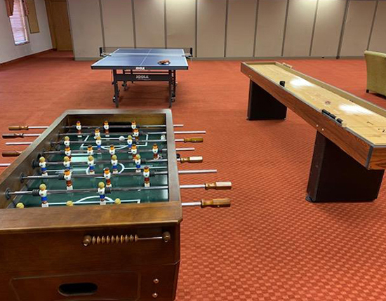 foosball table and Ping-Pong table in main clubhouse, The Cliffs at Peace Canyon