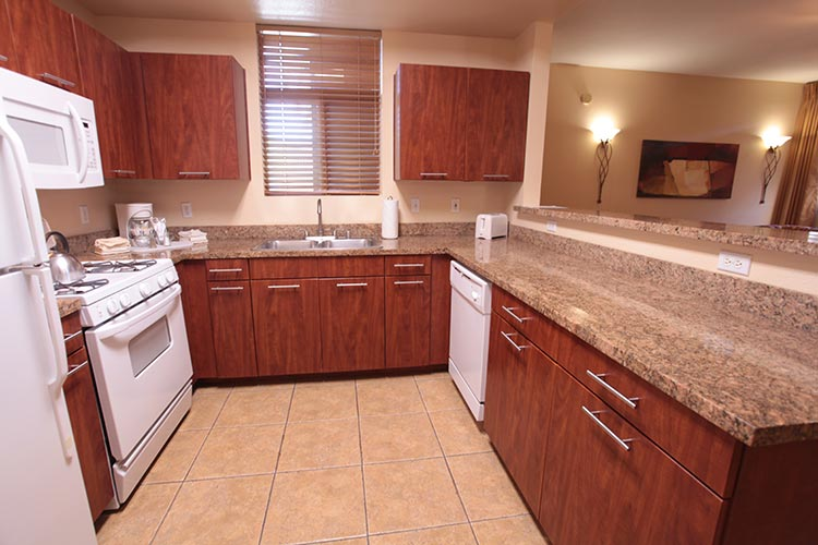 guest suite full kitchen with granite counter tops, The Cliffs at Peace Canyon