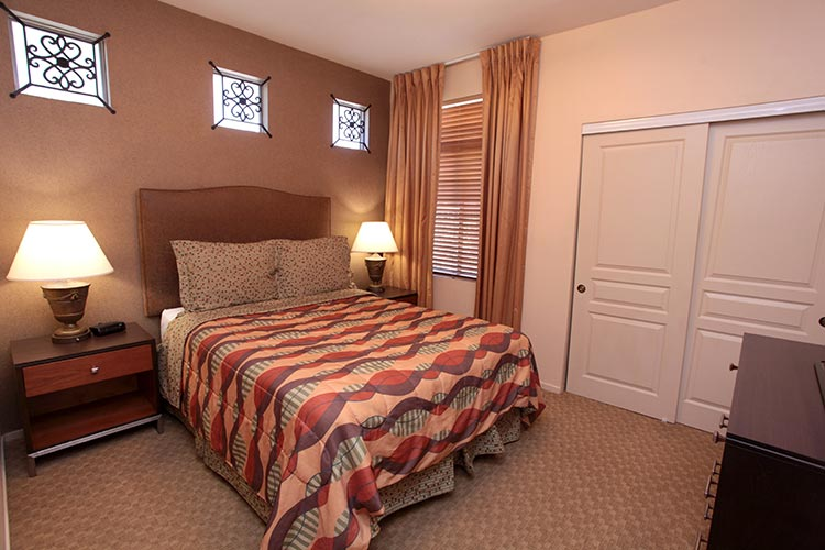 second bedroom in two bedroom suite with closet space, The Cliffs at Peace Canyon