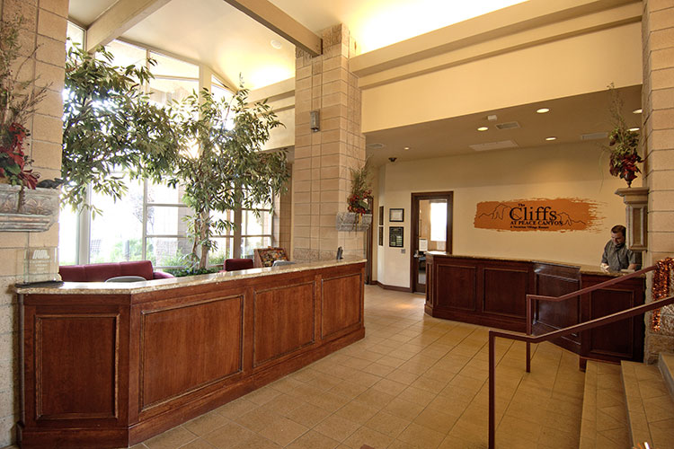 front desk and lobby area, The Cliffs at Peace Canyon