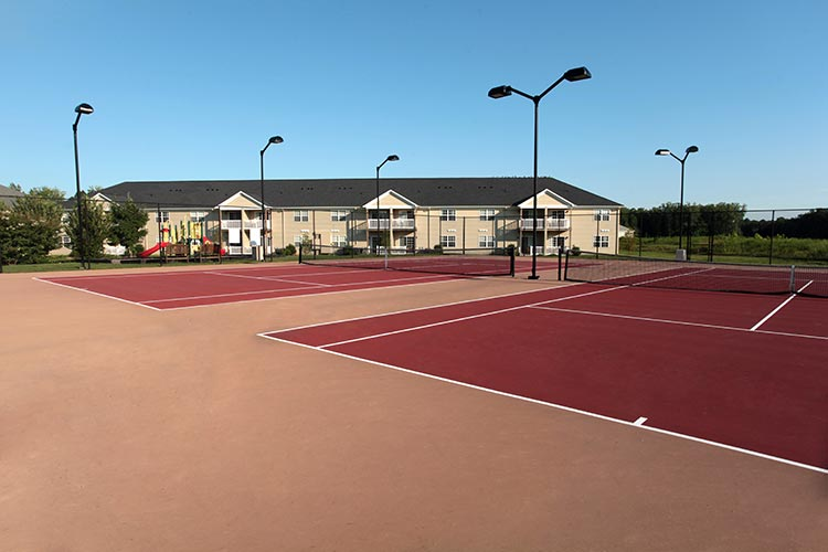 outdoor tennis courts, The Colonies at Williamsburg