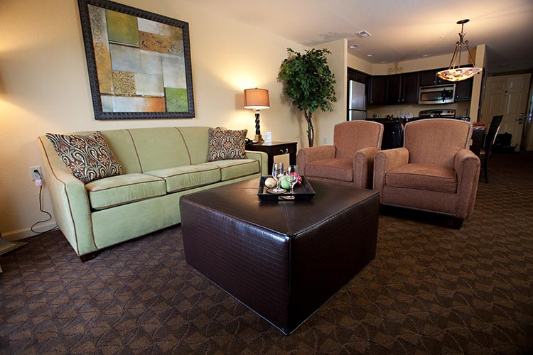 Guest suite living room area, The Colonies at Williamsburg