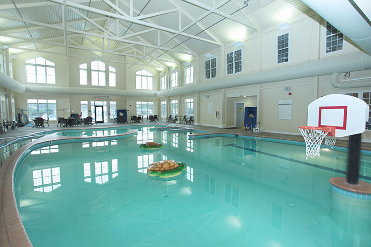 indoor heated swimming pool area, The Colonies at Williamsburg