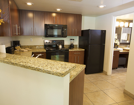 full kitchen equipped with stove, dishwasher, and refrigerator, The Grandview at Las Vegas