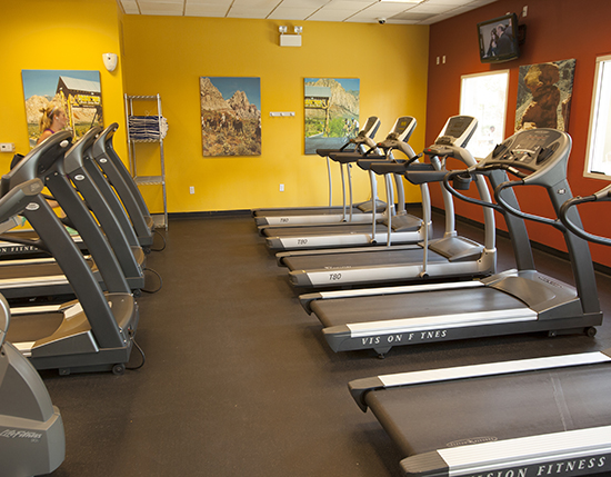 fitness center with treadmills, The Grandview at Las Vegas