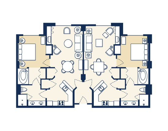 floor plan map for Suites A and B, The Grandview at Las Vegas