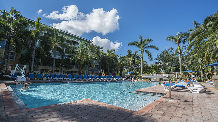 swimming pool area, Mizner Place at Weston Town Center
