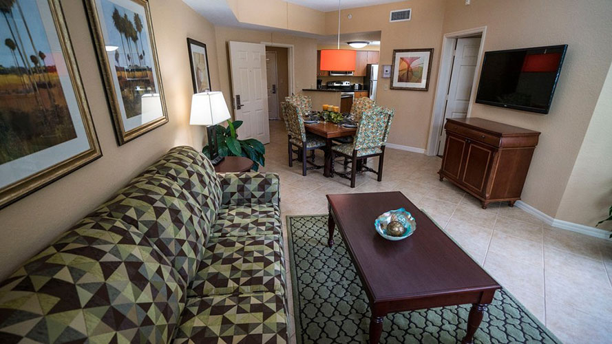 A Suite guest living room area, Mizner Place at Weston Town Center