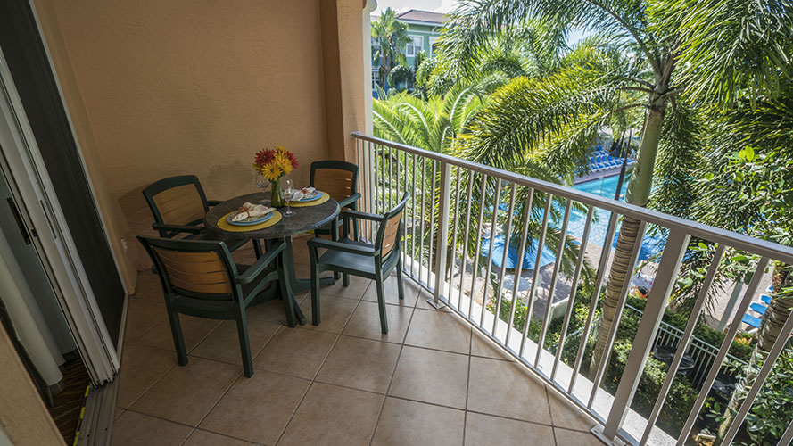 A Suite private guest balcony, Mizner Place at Weston Town Center