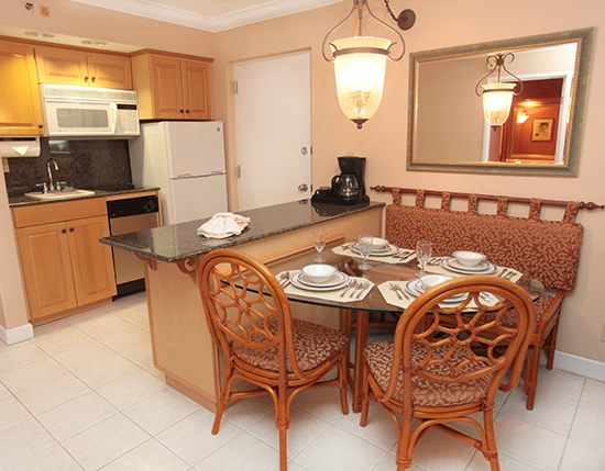 guest suite dining room area with partial kitchen, Palm Beach Shores Resort and Vacation Villas