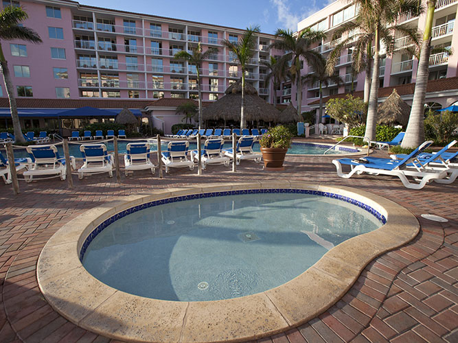 outdoor hot tub by main pool area, Palm Beach Shores Resort and Vacation Villas