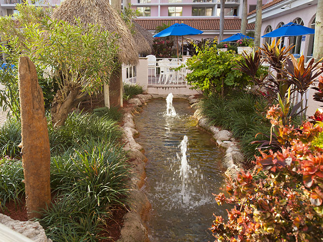 landscape feature by pool area, Palm Beach Shores Resort and Vacation Villas