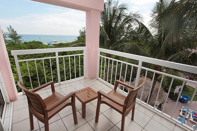 private guest suite balcony with ocean view, Palm Beach Shores Resort and Vacation Villas
