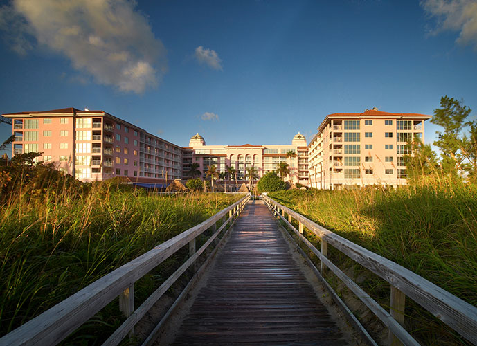 private boardwalk to resort beach area, Palm Beach Shores Resort and Vacation Villas