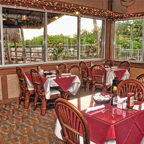 The Islander full service restaurant on resort property, Palm Beach Shores Resort and Vacation Villas
