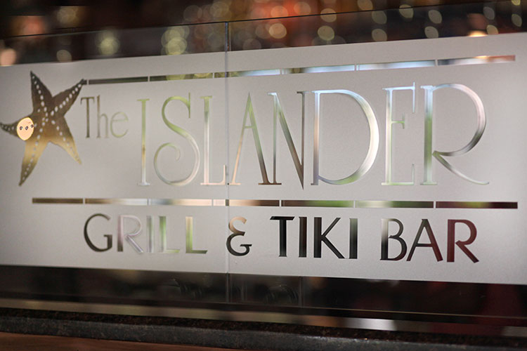 The Islander full service restaurant Name signage, Palm Beach Shores Resort and Vacation Villas