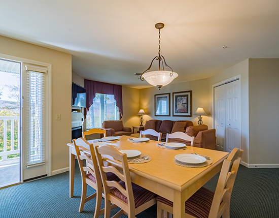 guest suite dining room area, Vacation Village in the Berkshires