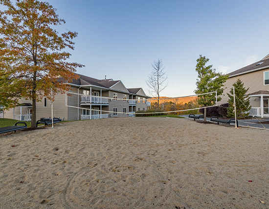 outdoor volleyball court, Vacation Village in the Berkshires