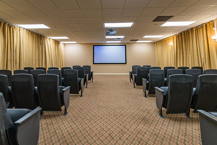 private movie theater that seats up to 42 guests, Vacation Village in the Berkshires