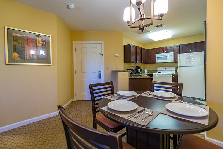 A Suite guest dining room area, Vacation Village in the Berkshires