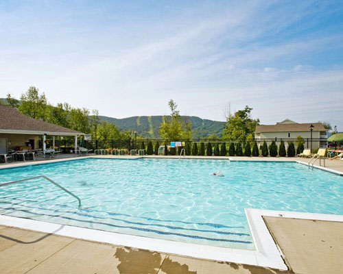 Outdoor swimming pool area, Vacation Village in the Berkshires