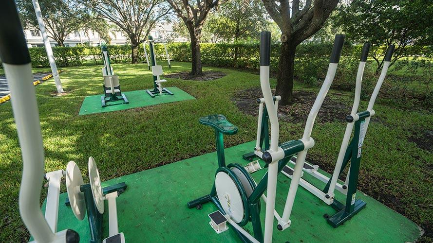 outdoor fitness equipment, Vacation Village at Bonaventure