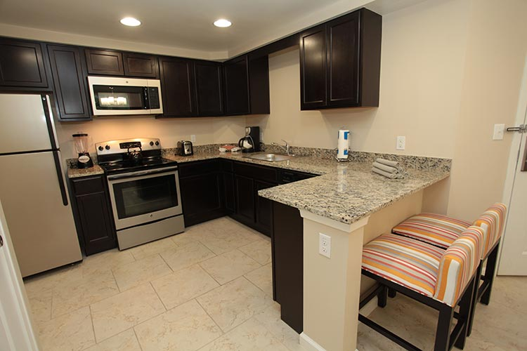 guest suite full kitchen with granite countertops, Vacation Village at Parkway