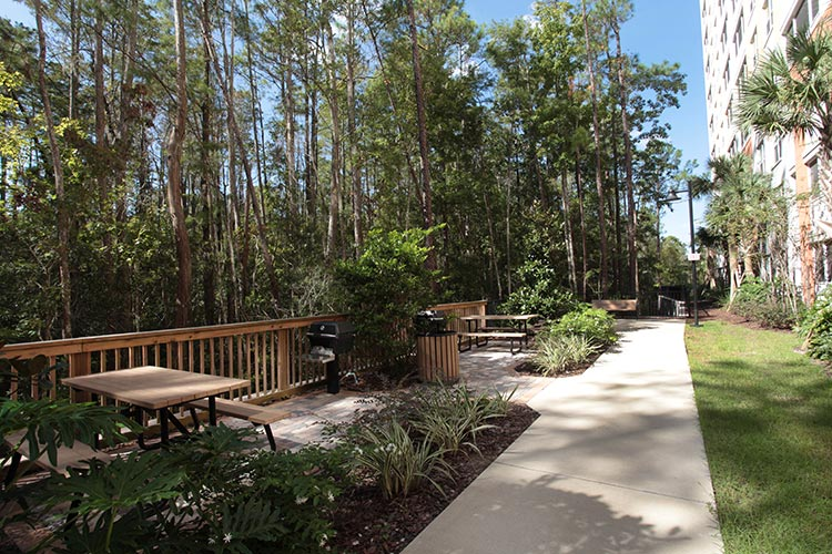 barbeque grills and picnic area, Vacation Village at Parkway.
