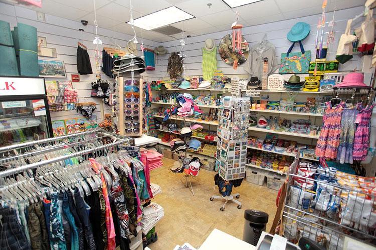 tropical gift shop at registration building, Vacation Village at Weston