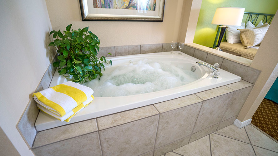 jetted tub in A Suite, Vacation Village at Weston