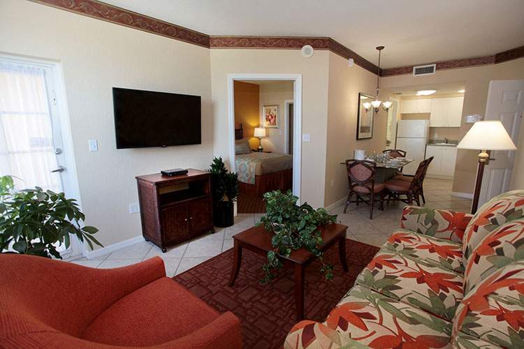 B Suite guest living room area, Vacation Village at Weston