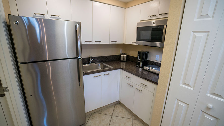 B Suite guest partial kitchen, Vacation Village at Weston