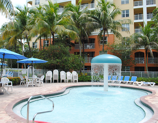 children's pool located behind the registration building, Vacation Village at Weston