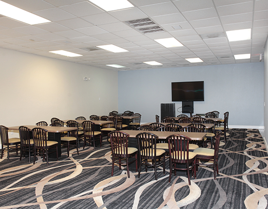 meeting room with tables and chairs, Vacation Village at Weston