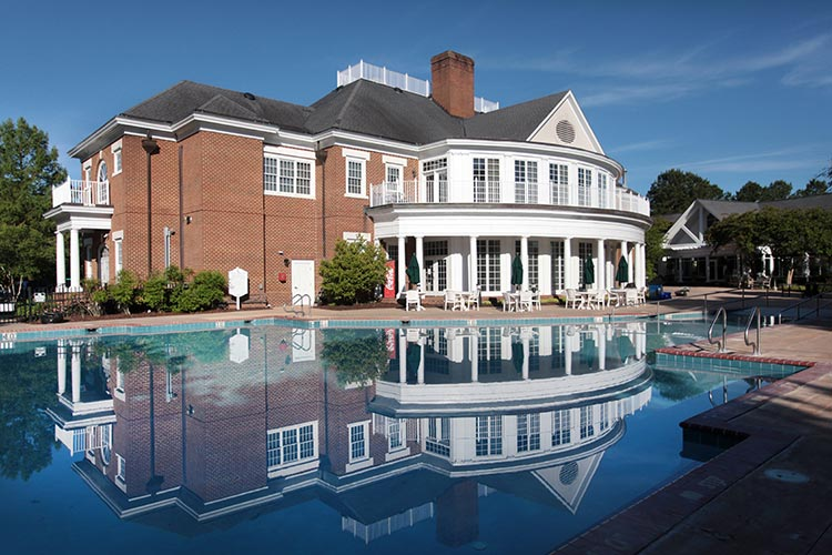 resort clubhouse and outdoor pool area during the day, Williamsburg Plantation