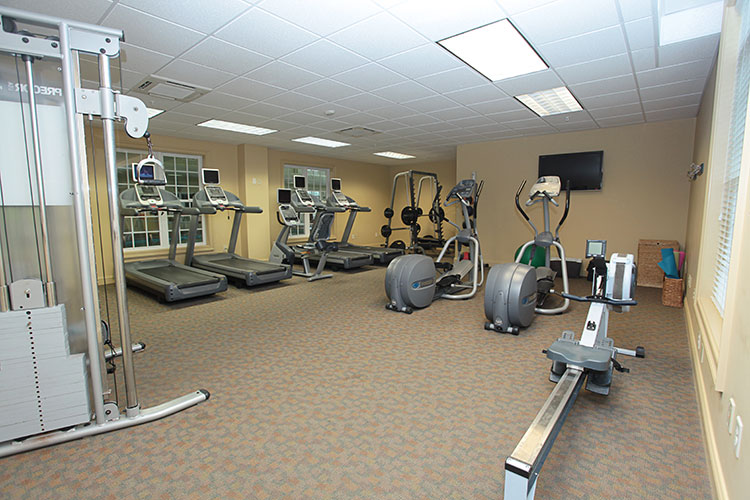 fitness center with cardio equipment, Williamsburg Plantation